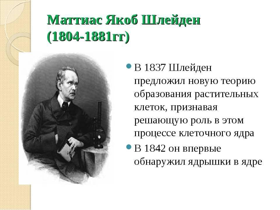 Шлейден, Маттиас Якоб