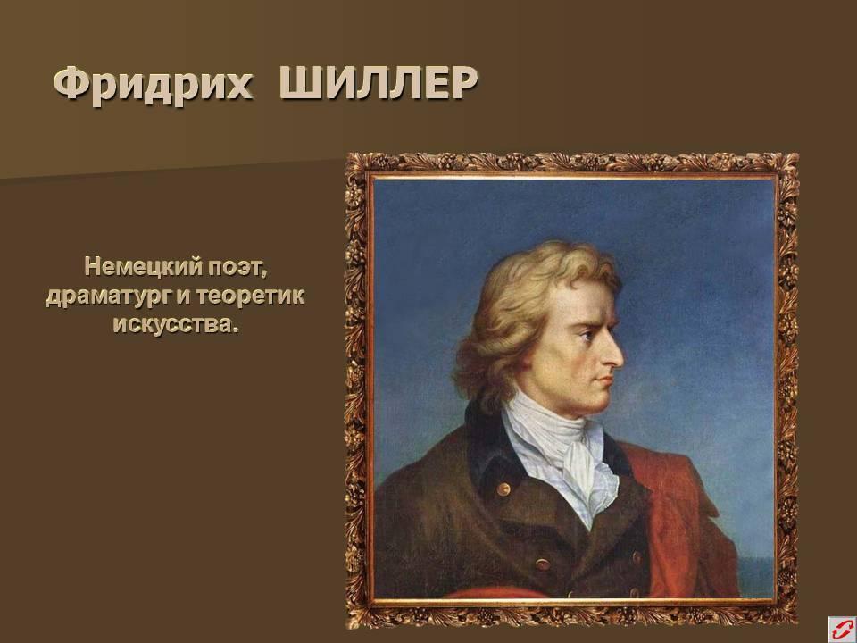 Биография Фридриха Шиллера