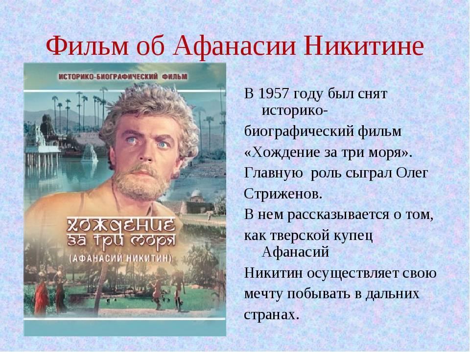 Что открыл афанасий никитин?