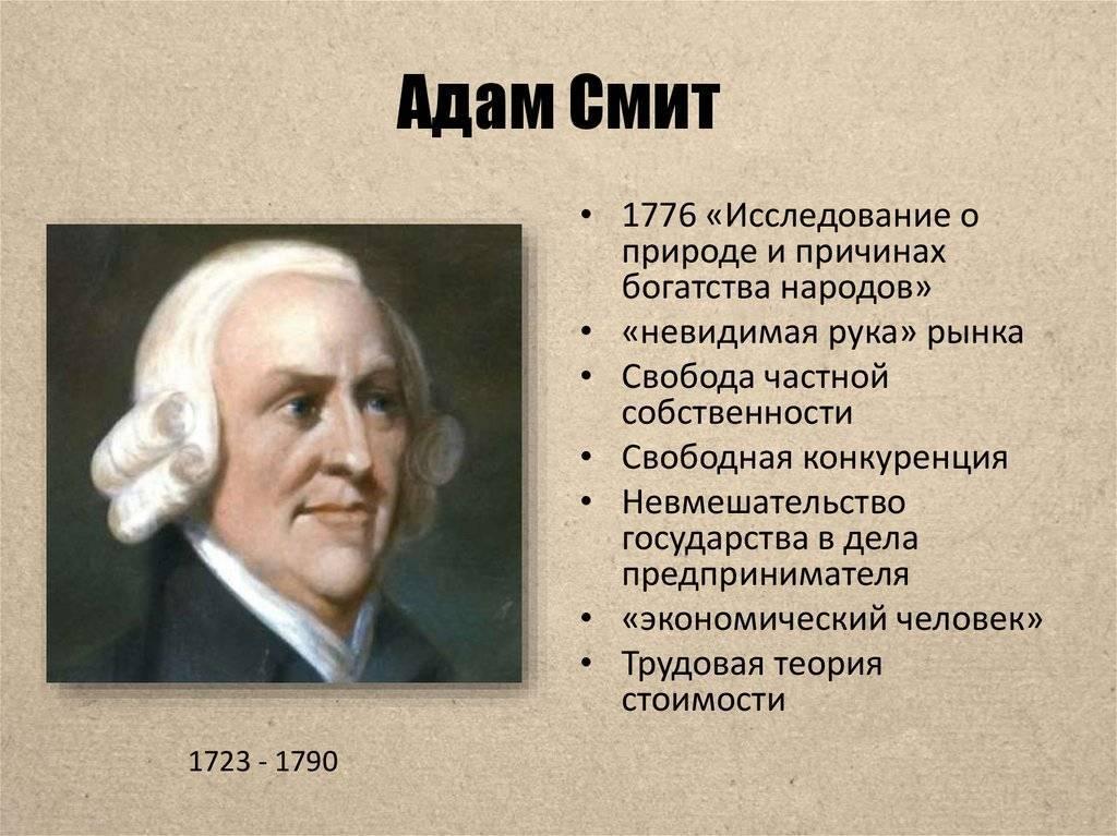 Адам смит — интересные факты