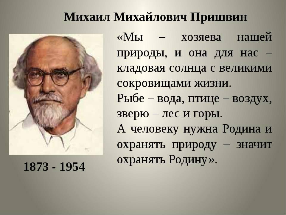 Краткая биография михаила пришвина   краткие биографии