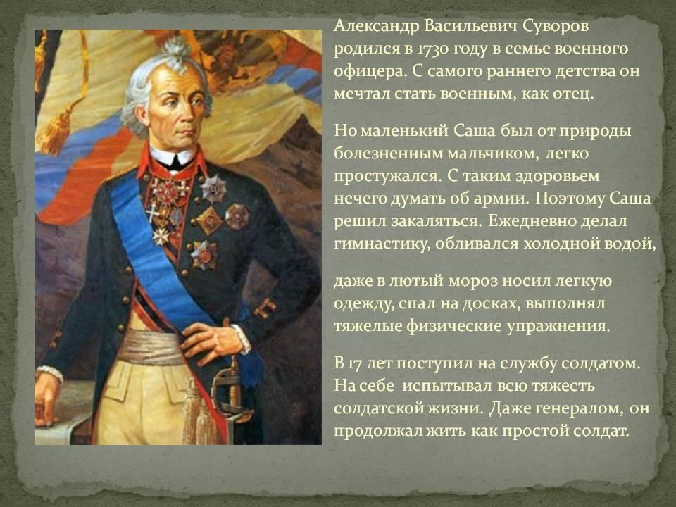 Суворов александр васильевич