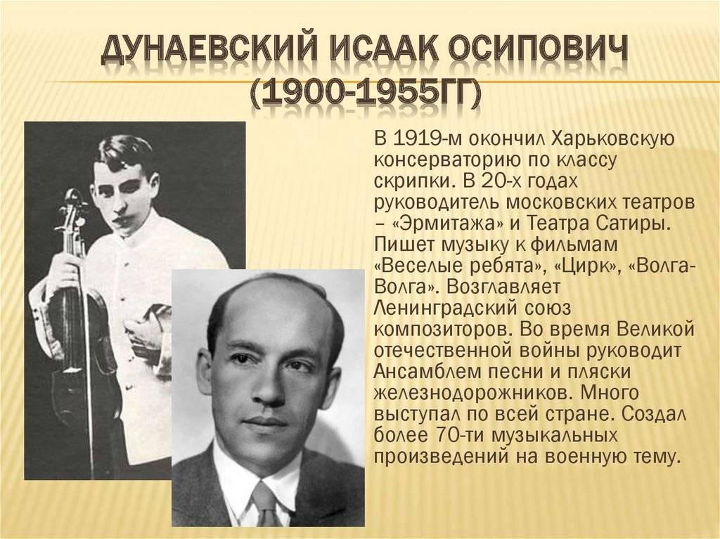 Дунаевский Исаак Осипович