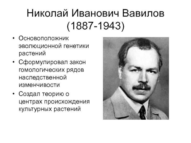 Биография николая вавилова кратко