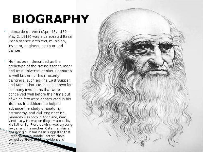 Леонардо да винчи – биография, кратко, самое главное, изобретения, картины
