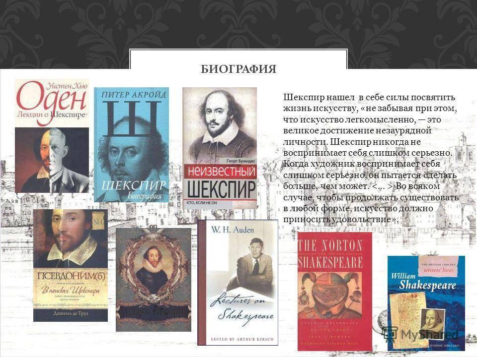 Биография Уильяма Шекспира