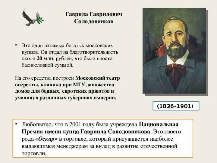 Солодовников, гаврила гаврилович биография