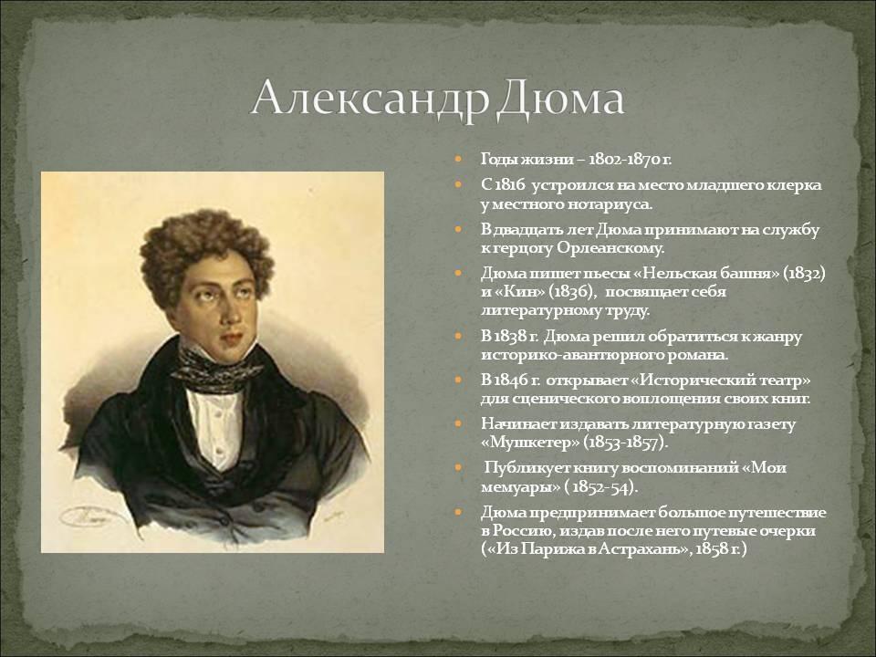 Александр дюма – биография, фото, личная жизнь, книги - 24сми
