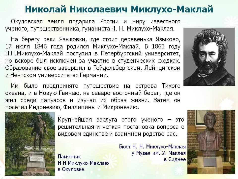 Миклухо-маклай николай николаевич