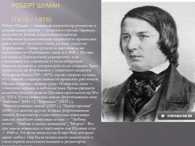 Краткая биография шумана
