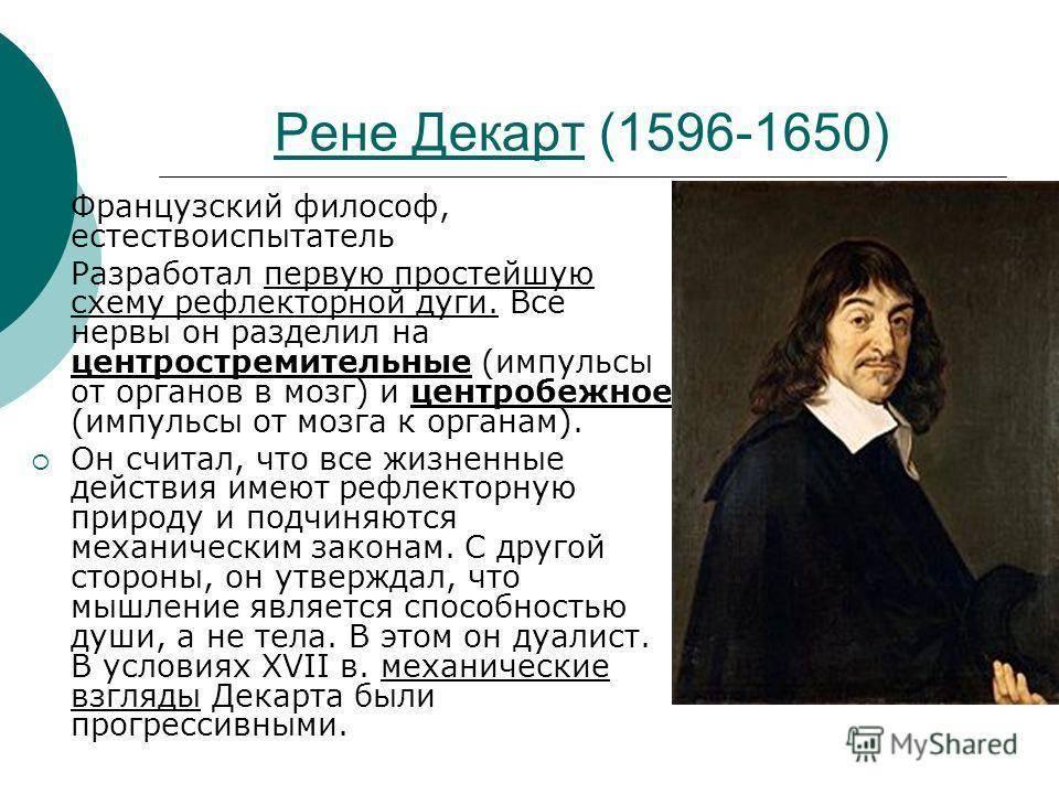 Рене декарт биография и его открытия, философия кратко и понятно, теория познания, картины, идеи и учения, интересные факты из жизни