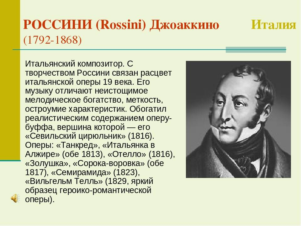 Россини, Джоакино