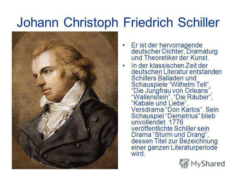 Краткая биография фридриха шиллера | краткие биографии