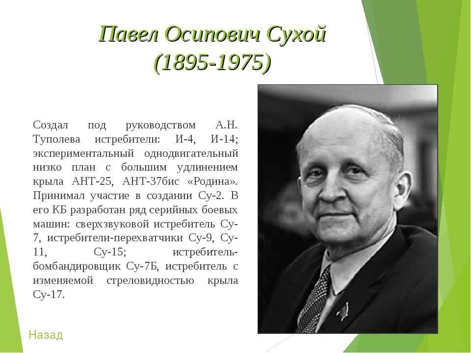 История рода известного советского авиаконструктора, уроженца глубокого, павла сухого (фото)