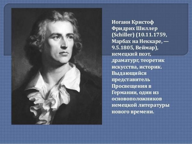 Фридрих шиллер: биография :: syl.ru