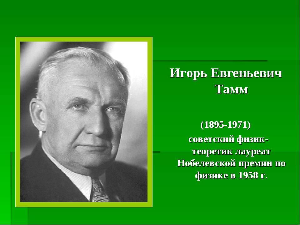 Тамм игорь евгеньевич — энциклопедия мифи