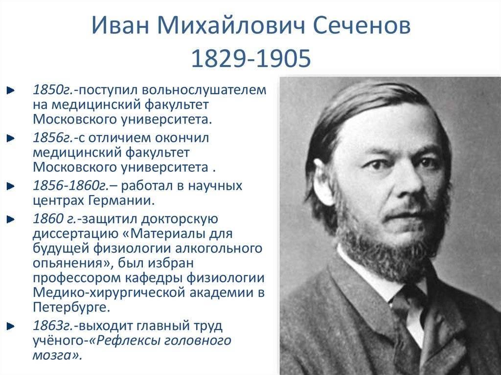 Иван сеченов - биография, медицина, личная жизнь, вклад в науку   биографии