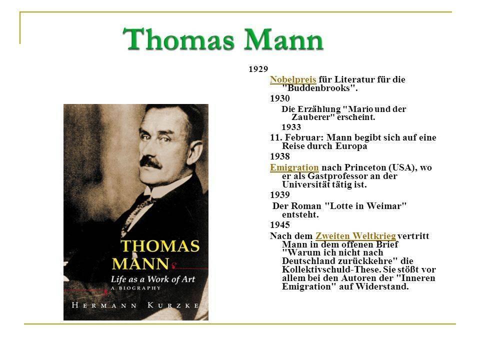 Томас манн — биография. факты. личная жизнь