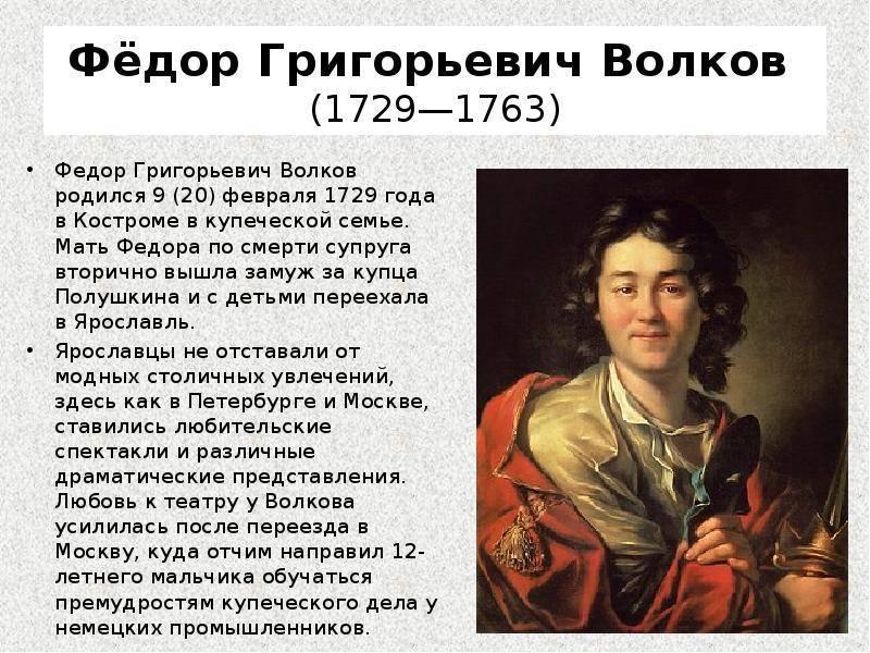 Волков, фёдор григорьевич биография