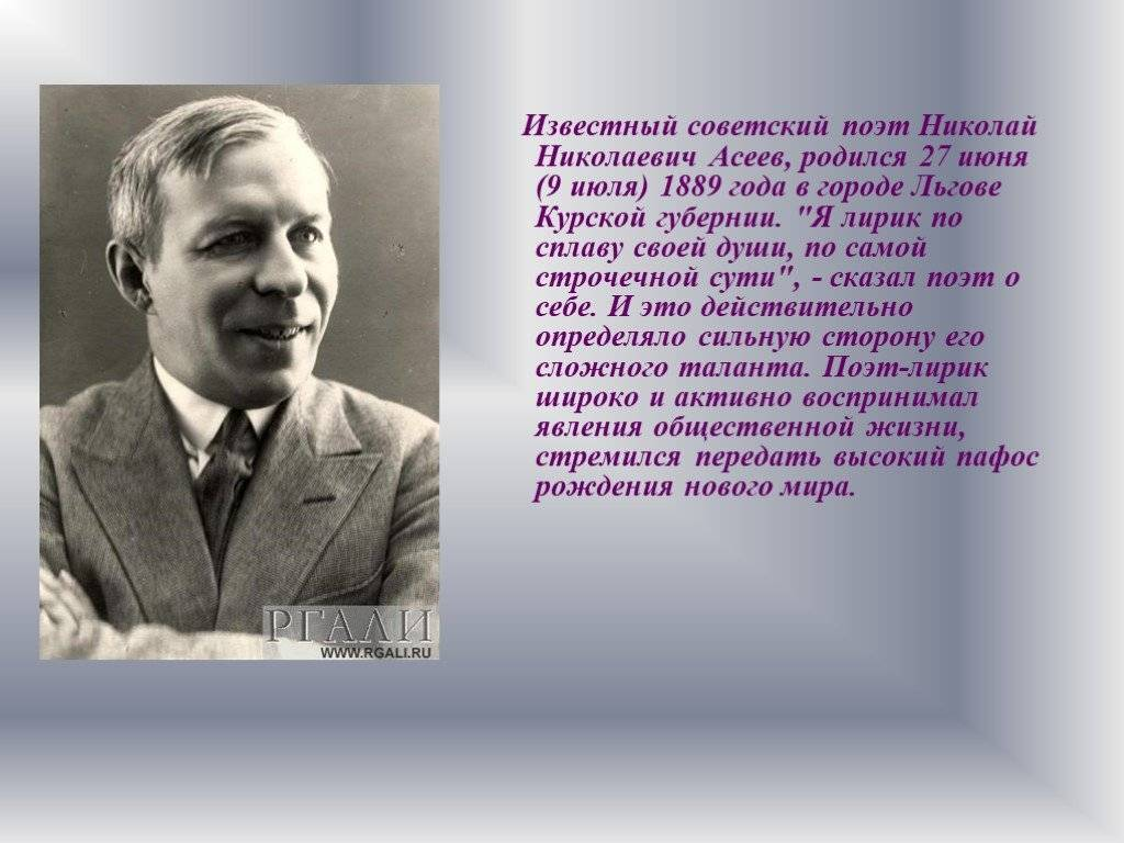 Николай асеев - вики