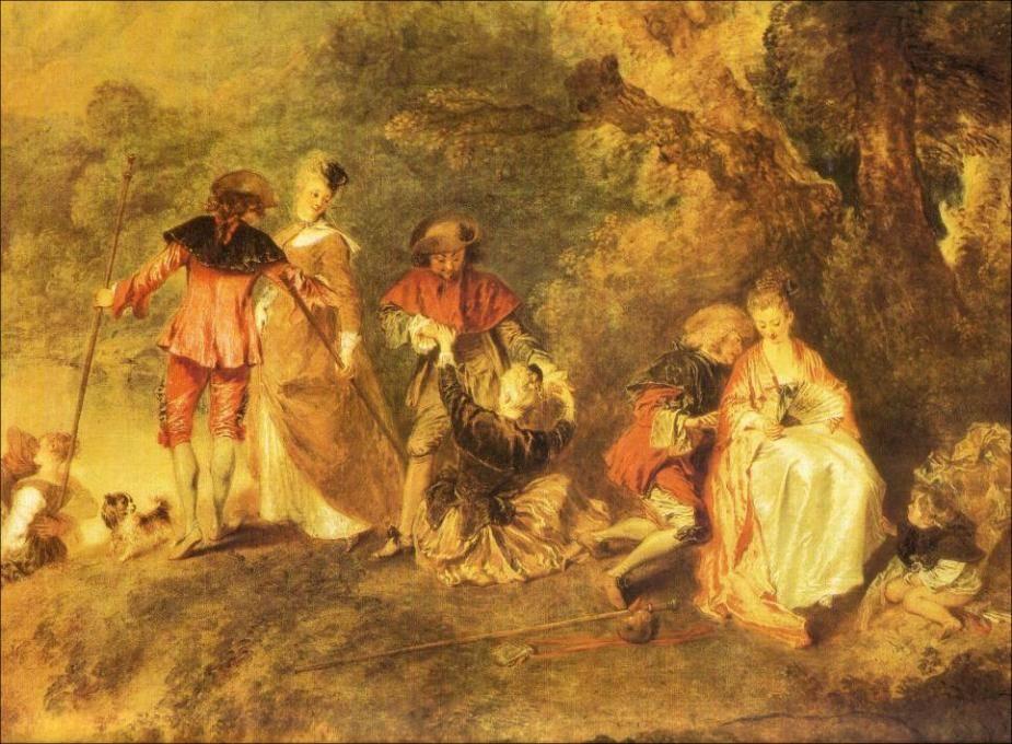 Антуан ватто картины