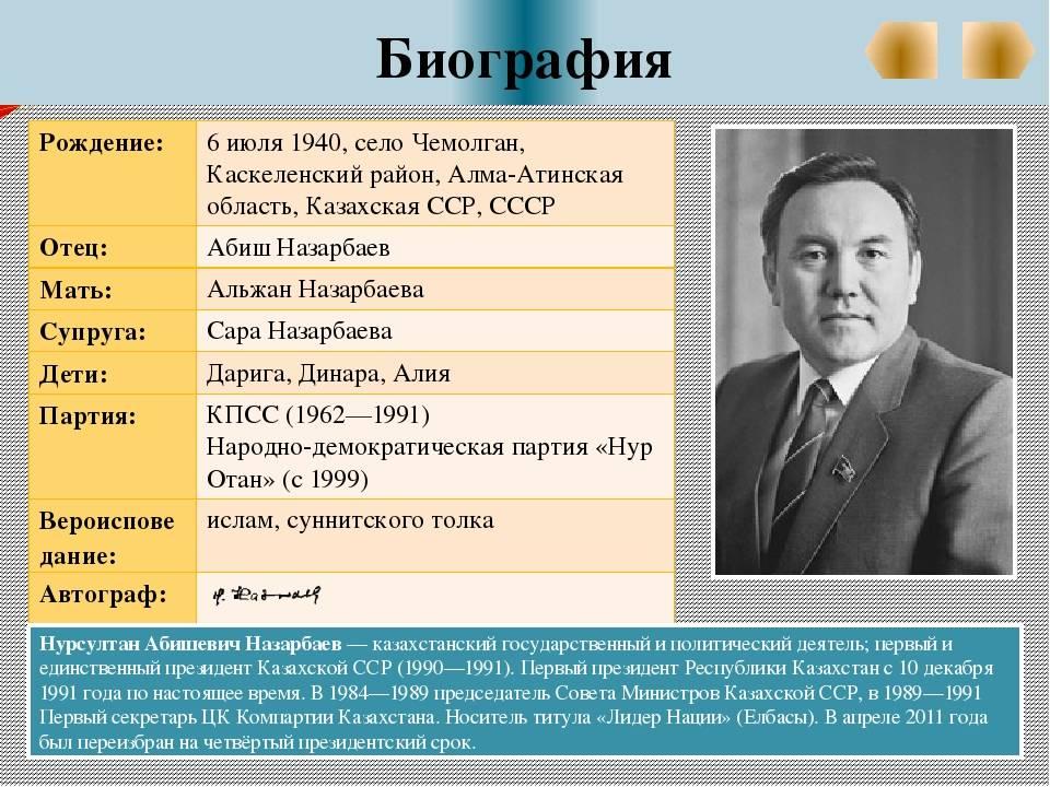 Нурсултан назарбаев: биография, жизнь, интересные факты
