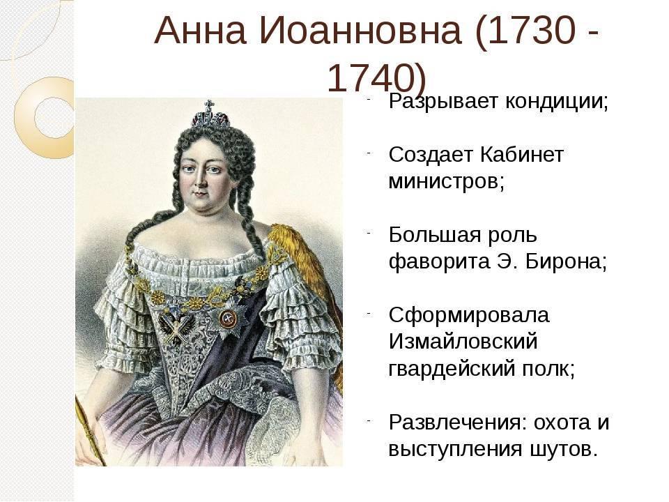 Биография призванной императрицы анны иоанновны: годы правления и интересные факты о любительнице буженины