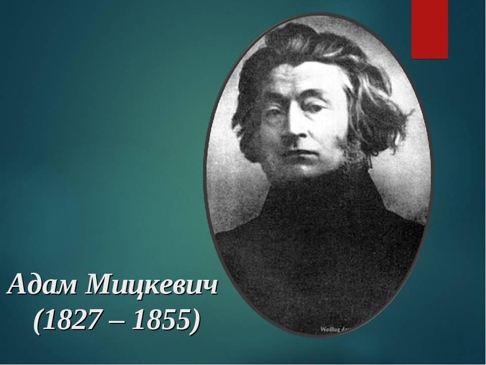 Мицкевич адам: биография, карьера, личная жизнь