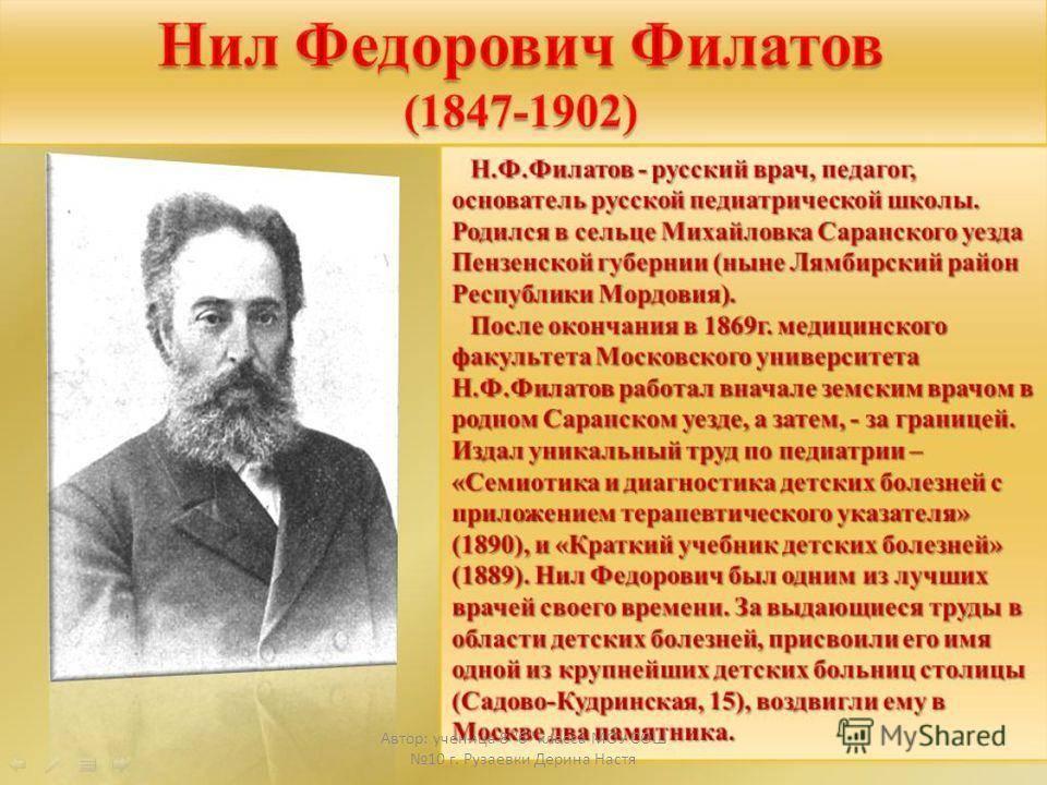 Филатов нил федорович