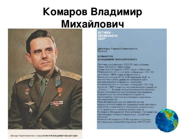 Роскосмос. 54 года со дня гибели владимира комарова - новости - госкорпорация «роскосмос»