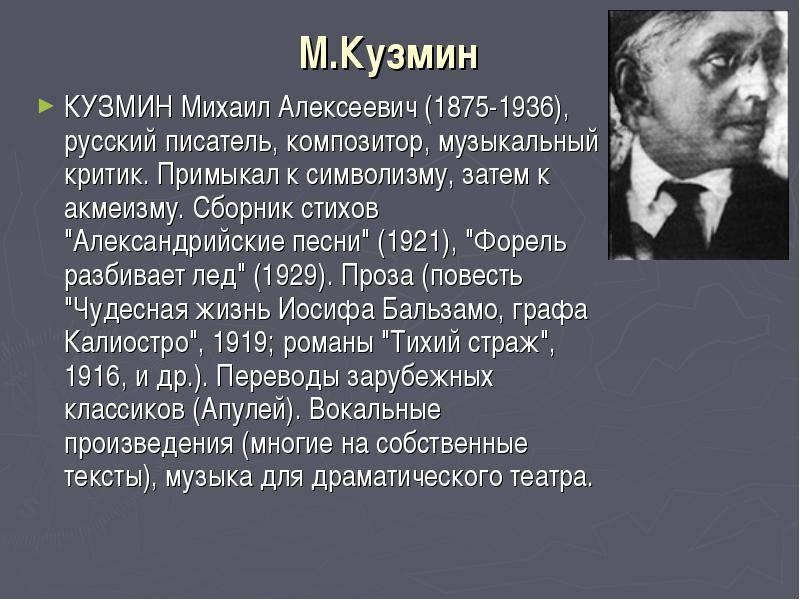 Кузмин михаил алексеевич