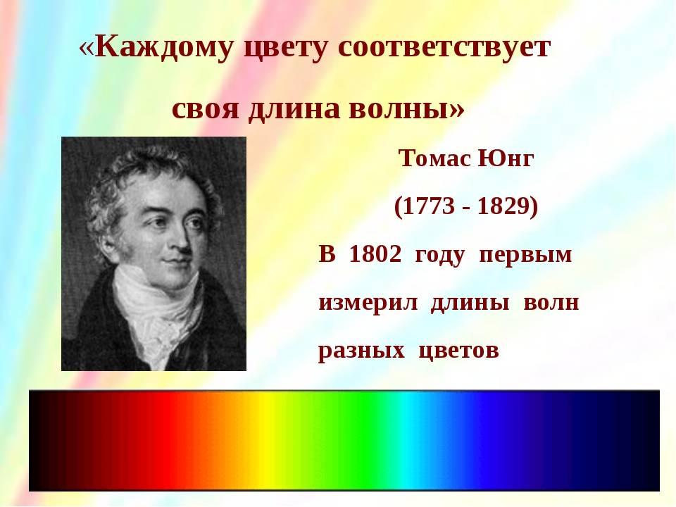 Томас юнг биография, научная деятельность, сочинения