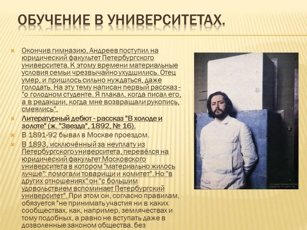 Биография Леонида Андреева
