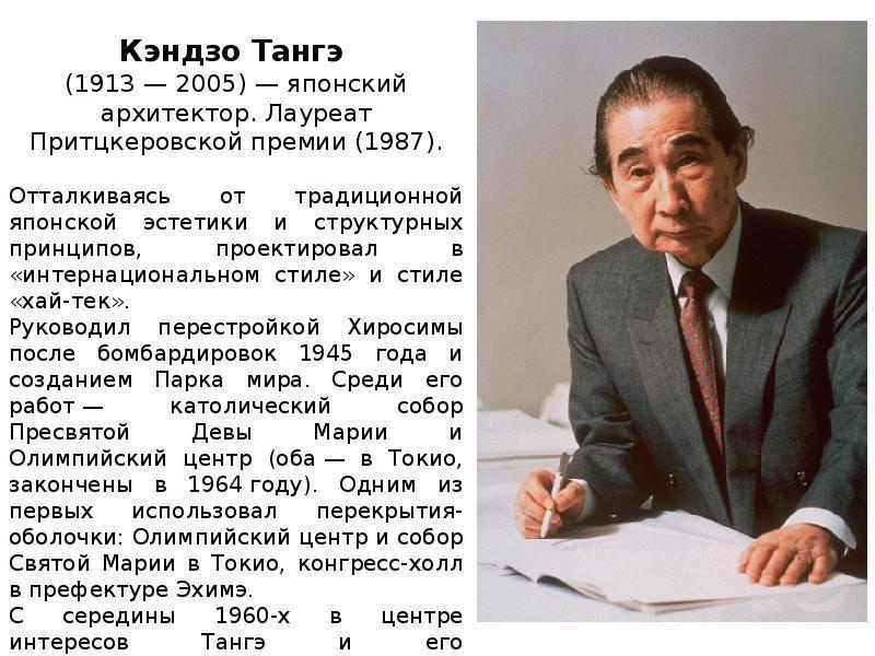 Биография Кэндзо Тангэ
