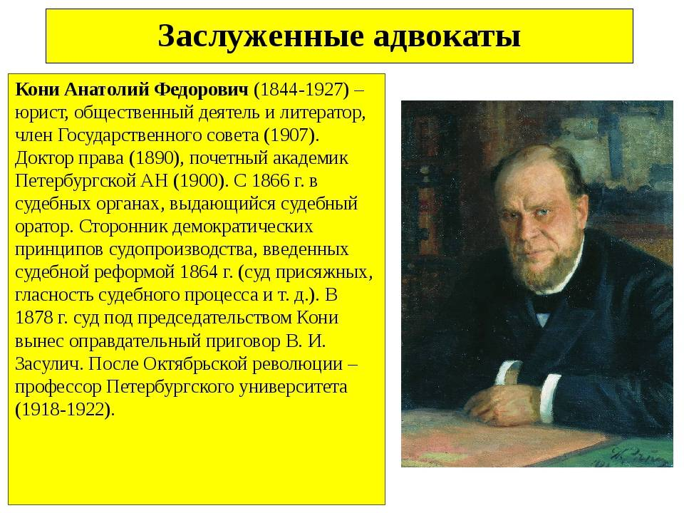 Юридическое бюро юрьева - анатолий фёдорович кони