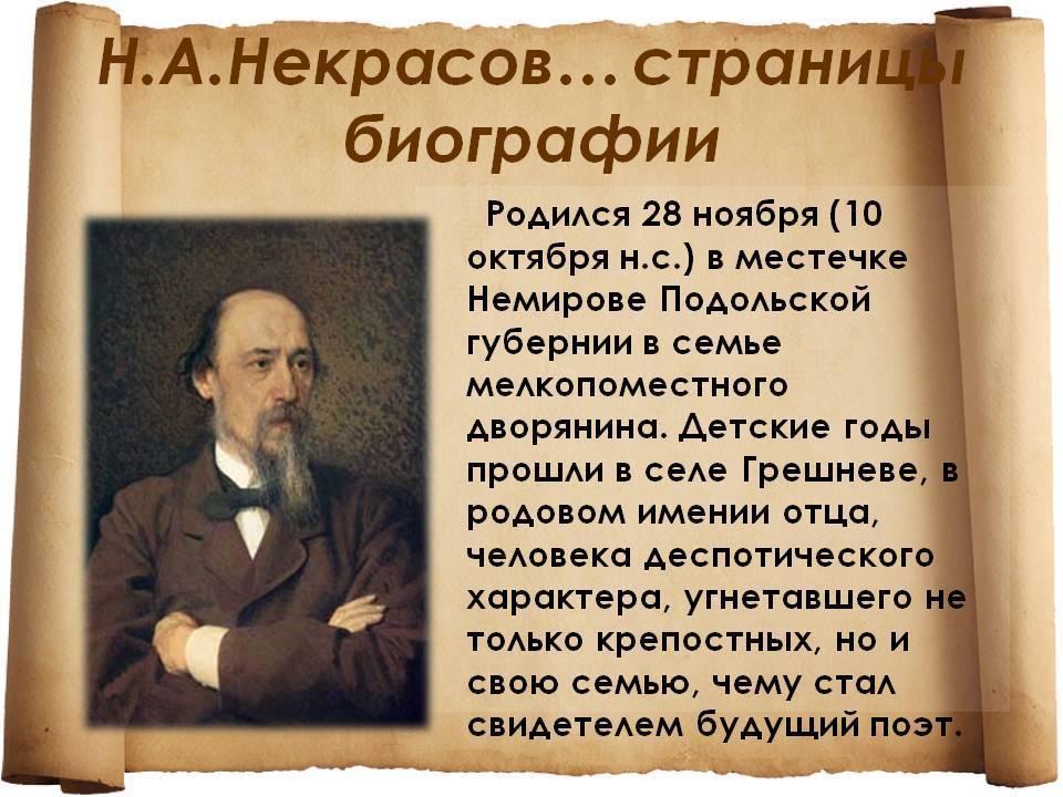 Биография Николая Некрасова