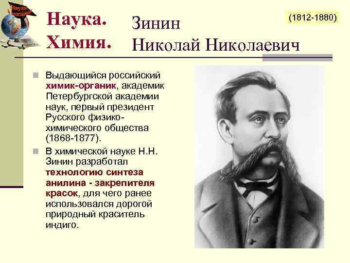 Wikizero - зинин, николай николаевич