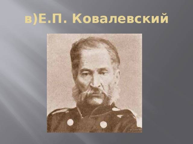 Ковалевский егор петрович
