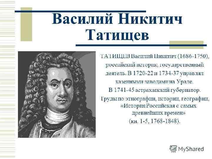 Василий татищев – основатель перми