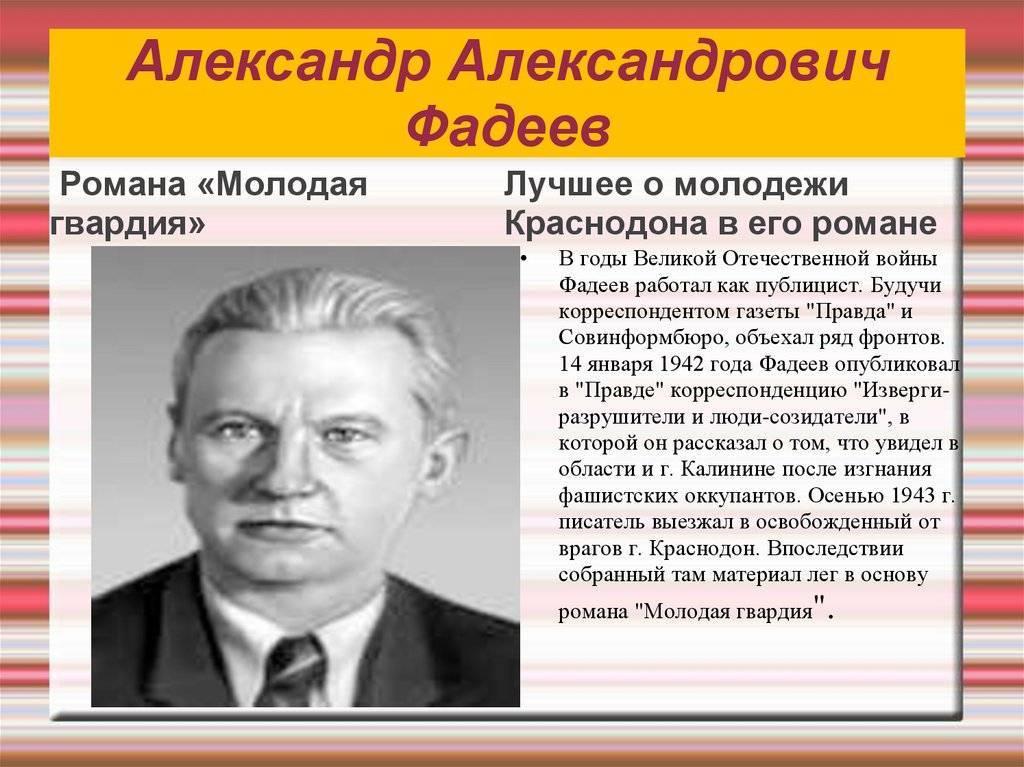 Фадеев, александр александрович — википедия