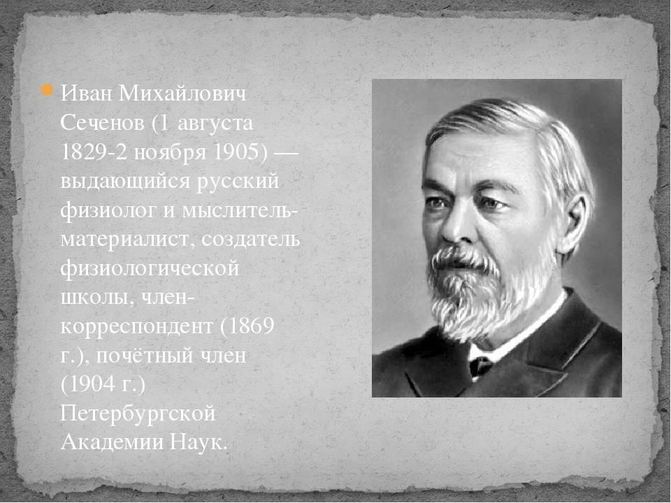Иван михайлович сеченов — краткая биография   краткие биографии