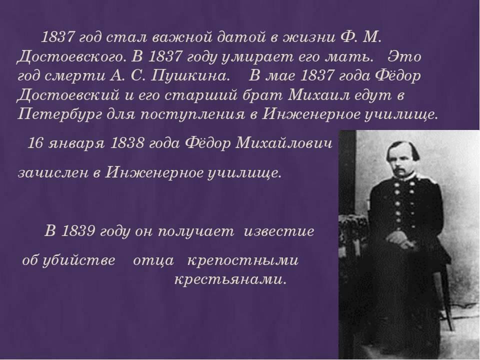 Федор михайлович достоевский: биография, творчество, интересные факты из жизни, память