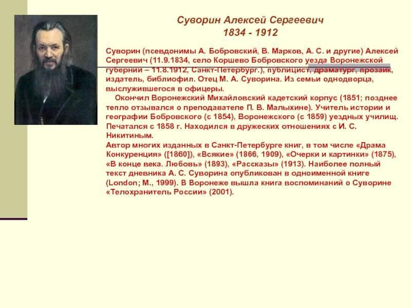Суворин алексей сергеевич - вики