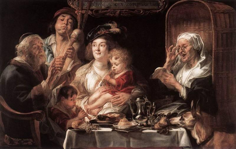 Бобовый король, якоб йорданс, около 1638 - галерея