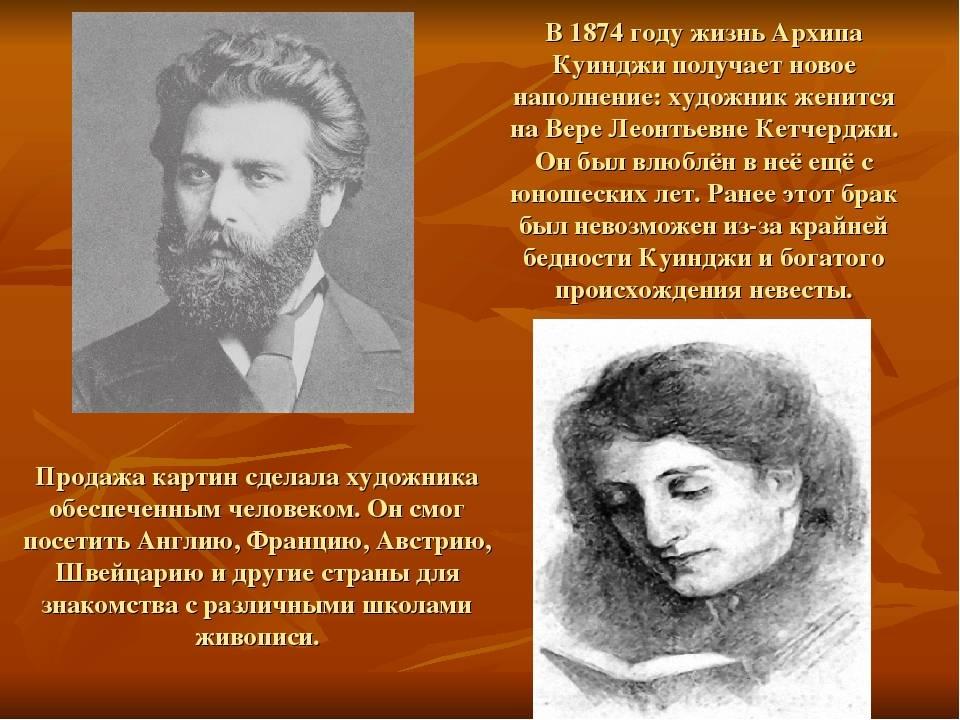 Биография архипа ивановича куинджи   краткие биографии