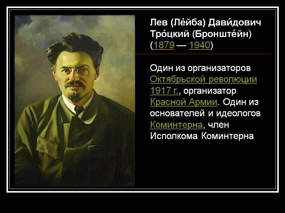 Краткая биография троцкого льва давидовича: самое главное