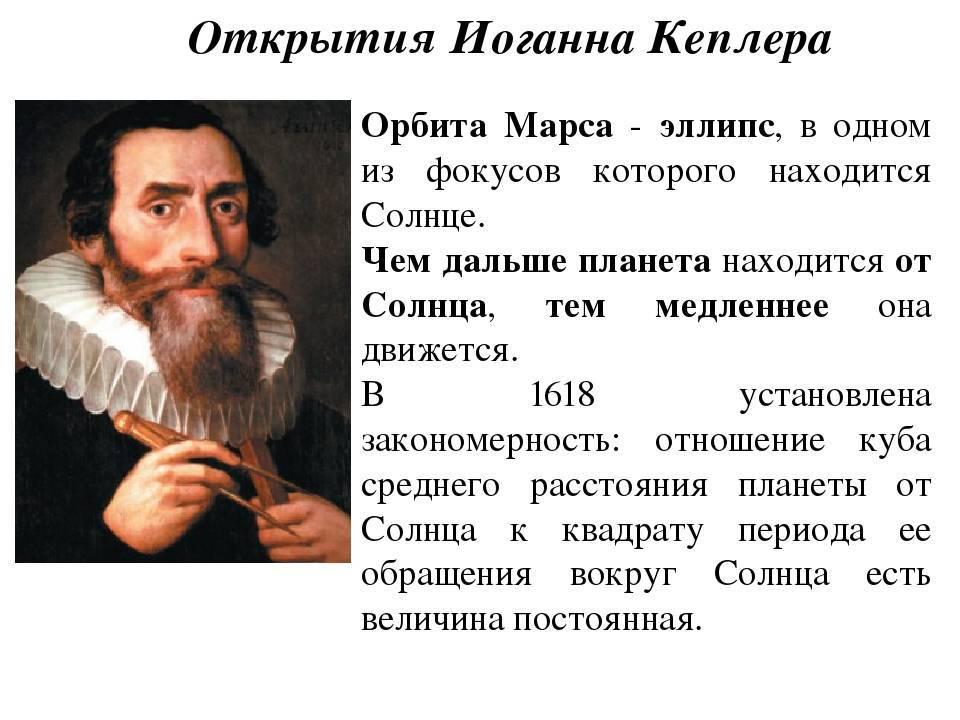 Кеплер иоганн: биография, фото и интересные факты