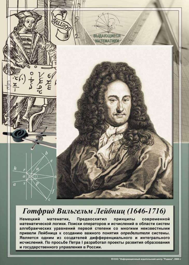 Готфрид лейбниц - биография, факты, фото
