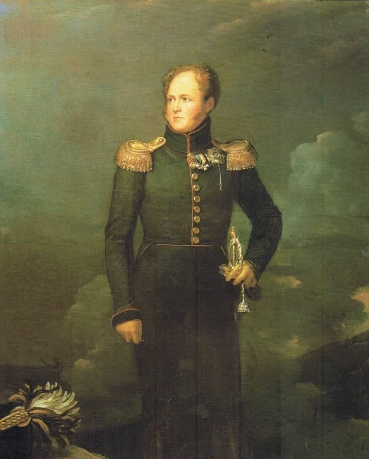 Российский император александр i романовисторический портрет