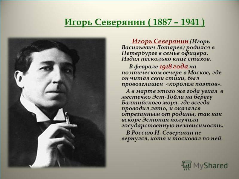Игорь северянин - биография, семья, фото > точка-ру
